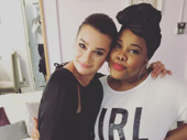 Girl power indeed! Glee alums Lea Michelle and Amber Riley unite across the pond after London's Dreamgirls.(Photo: Instagram.com/msamberpriley)