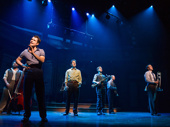 Corey Cott and the cast of Bandstand.