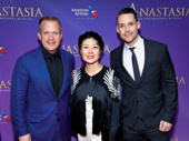 Anastasia's scenic designer Alexander Dodge, costume designer Linda Cho and projection designer Aaron Rhyne get together.