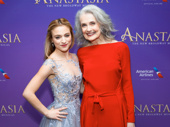 United with her stage grandmother! Anastasia's Christy Altomare and Mary Beth Peil meet up on the red carpet.
