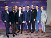 How dapper do these guys look? Anastasia's male ensemble: Kyle Brown, James A. Pierce III, Ian Knauer, Constatine Germanacos, Zach Adkins, Dustin Layton, Ken Krugman, Johnny Stellard and Wes Hart.