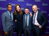 Director photo op! Six Degrees of Separation's Corey Hawkins, Allison Janney and John Benjamin Hickey get together with their director Tripp Cullman.