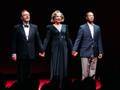 Bravo! Six Degrees of Separation stars John Benjamin Hickey, Allison Janney and Corey Hawkins take their opening night curtain call.