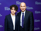 Six Degrees of Separation's Ned Eisenberg and son celebrate his Broadway opening.