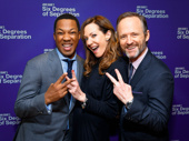 Six Degrees of Separation's Corey Hawkins, Allison Janney and John Benjamin Hickey get silly on opening night.