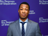 Six Degrees of Separation's Corey Hawkins snaps a pic.