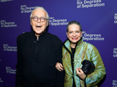 Six Degrees of Separation scribe John Guare and his wife Adele Chatfield-Taylor are all smiles for Guare's Broadway opening.