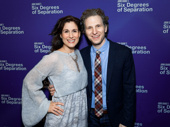 Tony nominee Stephanie J. Block and her husband Sebastian Arcelus spend date night at the Broadway opening of Six Degrees of Separation.