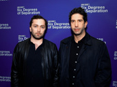 Emmy nominee David Schwimmer and guest take a photo.