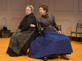 Jayne Houdyshell and Laurie Metcalf in A Doll's House, Part 2 . *Photo of Original Broadway Cast