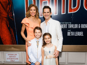 Bandstand director and choreographer Andy Blankenbuehler is all smiles for his Broadway opening with his wife Elly and their children Luca and Sofia.