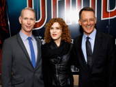 Bandstand writers Richard Oberacker and Robert Taylor celebrate their Broadway opening with legend Bernadette Peters.