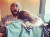 Comet goes Fiddler! The Great Comet's Josh Groban and Denée Benton get cozy before performing from Fiddler on the Roof in the Easter Bonnet competition.(Photo: Instagram.com/joshgroban)