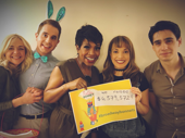 Woah! Broadway Cares/Equity Fights AIDS raised a record-breaking $6,379,572 this year! Dear Evan Hansen's Rachel Bay Jones and Ben Platt, Wicked's Sheryl Lee Ralph and Kara Lindsay and A Bronx Tale headliner Bobby Conte Thornton enjoy a group photo op at the Easter Bonnet competition.(Photo: Twitter.com/BCEFA)