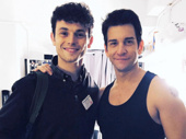 Groundhog Day's Andy Karl receives a visit from Charlie Stemp, who will lead Half a Sixpence at London's Noel Coward Theatre this fall.(Photo: Instagram.com/andy_karl)