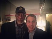 Stage and screen legend Morgan Freeman is among the many guests Dear Evan Hansen headliner Ben Platt has had stop by the Music Box Theatre to witness his emotional performance.(Photo: Instagram.com/bensplatt)