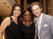 Some of our fave theater peeps! Stephanie J. Block, Montego Glover and Sebastian Arcellus take a group pic.(Photo: Chasi Annexy)
