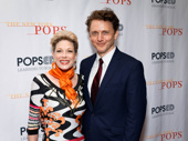 Theater couple Marin Mazzie and Jason Danieley are all smiles.