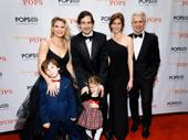 Family night! Kelli O'Hara, her husband, Greg Naughton, their children Owen and Charlotte, Sara Sessions and James Naughton take a photo.
