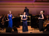 Marin Mazzie, Judy Kuhn and Rebecca Luker take the stage.