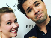 Throwback to Lysistrata Jones! Former co-stars Patti Murin and Andrew Rannells met their mini-mes at Lewis Flinn's recent 54 Below concert.(Photo: Instagram.com/andrewrannells)