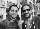 We dreamed a dream about these two reuniting! Les Miserables' pals Ramin Karimloo and Will Swenson enjoy a serendipitous hang sesh in the Theater District.(Photo: Instagram.com/raminkarimloo)
