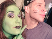 """Wicked national tour headliner Jessica Vosk simply couldn't be happier that Robin De Jesus is back as Boq! Also, """"back as Boq"""" is our new favorite vocal warm up.(Photo: Twitter.com/JessicaVosk)"""