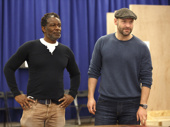 Jitney Tony nominee John Douglas Thompson and Corey Stoll hit the rehearsal room for the Public Theater's upcoming production of Julius Caesar. Be sure to catch this summer's first installment of Shakespeare in the Park beginning on May 23.(Photo: Joan Marcus)