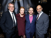 Director Bartlett Sher, Jennifer Ehle, scribe J.T. Rogers and Anthony Azizi get together to celebrate Oslo's four Lucille Lortel wins (Outstanding Play, Outstanding Director, Outstanding Lead Actress in a Play and Outstanding Featured Actor in a Play). Congrats to all of this year's winners and nominees!