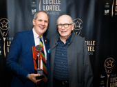 Terrence McNally presented Harold Wolpert with the Edith Oliver Service to Off-Broadway Award.