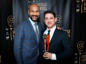 Hamlet-bound star Keegan-Michael Key presented Vietgone's Jared Mezzocchi with the award for Outstanding Projection Design.