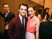 The Bandstand love is real! Corey Cott and Laura Osnes hug it out at the 2017 Lucille Lortel Awards.(Photo: Emilio Madrid-Kuser)