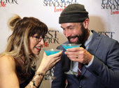 "Cheers! Ernest Shackleton Loves Me stars Val Vigoda and Wade McCollum celebrated the musical's off-Broadway opening on May 7 with some ""Shackleton Not Stirred"" cocktails.(Photo: David Katsive)"