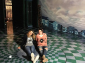 Freaky Friday stars Heidi Blickenstaff and Emma Hunton chill on the set after a two-show day. The musical is running at the Cleveland Play House through May 20.(Photo: Instagram.com/cleveplayhouse)