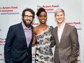 A trio of Tony noms! The Great Comet's Josh Groban, Denée Benton and Lucas Steele snap a group shot.