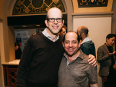 The Golden Apple's Jeff Blumenkrantz and Jason Kravits snap a pic.