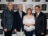 War Paint's scribe Doug Wright, music maker Scott Frankel, star Patti LuPone and director Michael Greif gussy up for a group shot.
