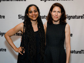 Venus scribe Suzan-Lori Parks takes a photo with Signature Theater's Artistic Director Paige Evans.