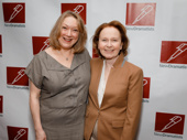 Present Laughter's Kristine Nielsen and Kate Burton attend the New Dramatists Awards luncheon.