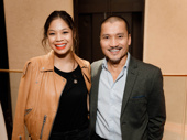 Miss Saigon's Eva Noblezada and Jon Jon Briones are all smiles for the New Dramatists Awards luncheon.