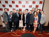 The Dear Evan Hansen gang is all here: set designer David Korins, Jennifer Laura Thompson, music makers Justin Paul and Benj Pasek, producer Stacey Mindich, Rachel Bay Jones, scribe Steven Levenson, director Michael Greif, Michael Park, Mike Faist and Will Roland.