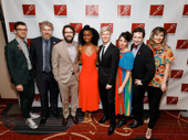 The Great Comet's on and off stage Tony nominees get together: choreographer Sam Pinkleton, mastermind Dave Malloy, stars Josh Groban, Denée Benton, Lucas Steele, director Rachel Chavkin, lighting designer Bradley King and costume designer Paloma Young.