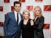 Falsettos Tony nominee Andrew Rannells and two-time Tony winner Judith Light serve face with Daryl Roth.
