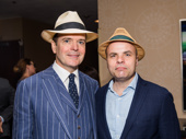Oslo's Tony-nominated star Jefferson Mays and scribe J.T. Rogers always have strong hat game.