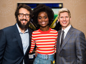 The Great Comet Tony nominees Josh Groban, Denée Benton and Lucas Steele snap a pic.