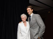 Sunset Boulevard's Glenn Close and Michael Xavier snap a pic.