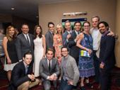 The Dear Evan Hansen gang is all here: director Michael Greif, producer Stacey Mindich, scribe Steven Levenson, Rachel Bay Jones, music makers Justin Paul and Benj Pasek, Jennifer Laura Thompson, Michael Park, music man Alex Lacamoire, Mike Faist, Ben Platt and  Will Roland.