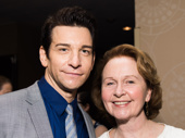 Andy Karl and Kate Burton snap a pic.