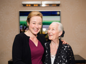 Oslo Tony nominee Jennifer Ehle and her mother Rosemary Harris are all smiles.