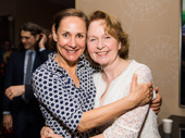 Acting titans Laurie Metcalf and Kate Burton hug it out.